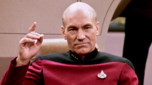"""Star Trek's Picard stating """"Engage"""" to discussing controversial topics"""