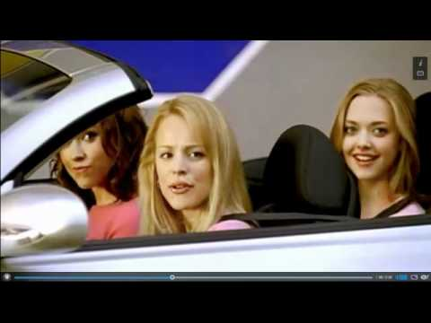 """Mean Girls in silver convertible when the dialogue is """"Get in loser. We're going shopping."""""""